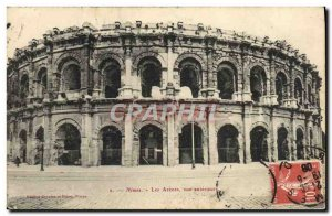 Old Postcard Nimes Les Arenes Exterior View