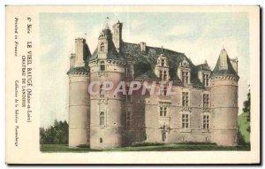 Old Postcard The Old Bauge (Maine-et-Lorie) Chateau de landifer