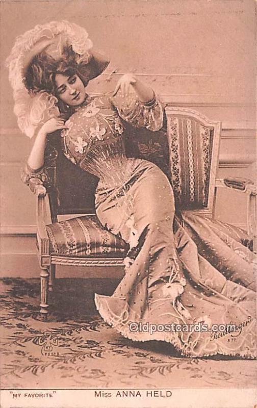 Miss Anna Held Movie Star Actor Actress Film Star Postcard