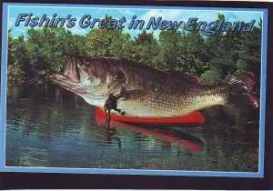 P1572 vintage rhode island published exaggerated bass fishing great new england