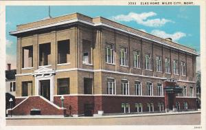 MILES CITY, Montana, 1900-1910's; Elks Home