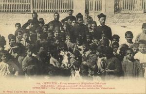 israel palestine, BETHLEHEM, Pupils of the Catholic Orphanage (1910s) Postcard