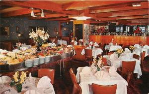 New York City~Stockholm Restaurant on West 51st Street~Dining Tables & Food~'50s