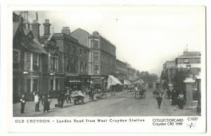 Pamlin C1037 Old Croydon RP PPC, London Rd From West Croydon Station