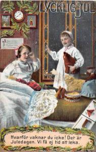 Lycklig Jul, Two children waiting up for Santa