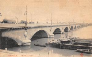 France Bordeaux - Le Pont de pierre Bridge bruecke CPA