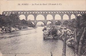 NIMES, Gard, France, 1900-1910's; Le Pont Du Gard