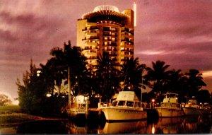 Florida Fort Lauderdale Pier 66 At Sunset 1970