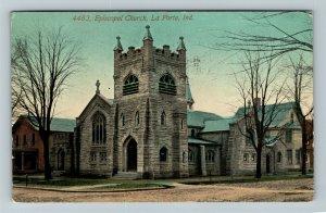 La Porte IN Indiana, Episcopal Church, Vintage c1912 Postcard