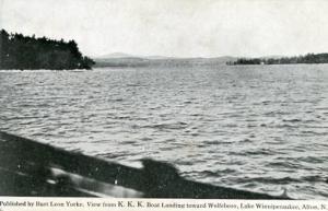 NH - Alton, View from K.K.K. Boat Landing toward Wolfeboro, Lake Winnipesaukee