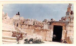 Baalbek, Lebanon Postcard, Carte Postale non postcard backing Dated 4-12-1966...