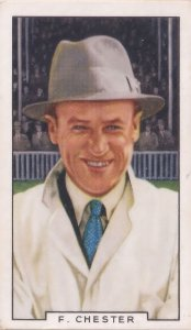 Fred Chester Worcestershire English Cricket International 1930s Cigarette Card