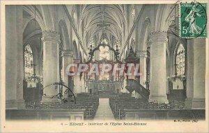 Old Postcard Elbeuf Interior of The Church of Saint Etienne