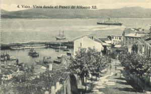 spain, VIGO, Vista desde el Paseo de Alfonso XII (1910s) J. Buceta Postcard