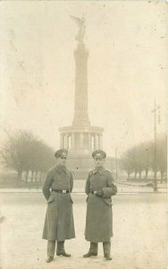 Military Soldiers Monument 1928 RPPC Photo Postcard 20-14181