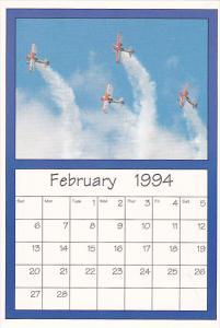 February 1994 Limited Editon Calendar Card AirShow '94 Stearman Biplane