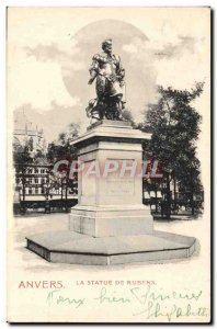Old Postcard Antwerp The Rubens Statue