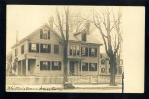 Amesbury, Massachusetts/MA/Mass Postcard, Whittier's Home, 1908!