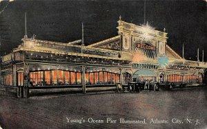 LP49  Atlantic City   New Jersey  Young's Ocean Pier Illuminated