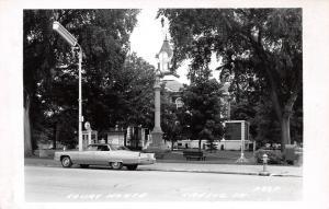 Cresco IA Gas-Guzzler 1970s Car~Telephone Booth~Civil War Monument~RPPC Postcard