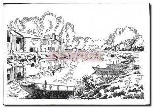 Modern Postcard Coulon La Mothe Jacquelin Drawing Clavery