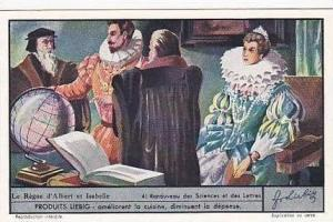 Liebig Vintage Trade Card S1363 Reign Of Albert & Isabel 1937 No 4 Renouveau ...