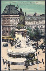 Paris Statue of the Republic Paris France Unused c1910s
