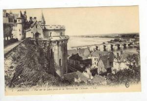 Amboise, Indre-et-Loire department i, France 00-10s Vue sur la Loire prise de...