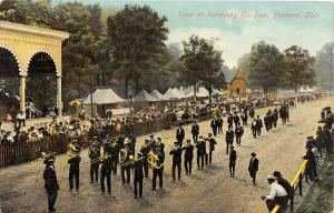 F36/ Fremont Ohio Postcard c1910 Sandusky County Fair Parade Band