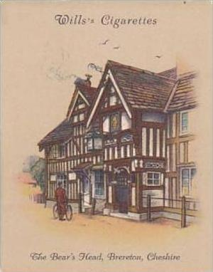 Wills Cigarette Card Old Inns 2nd Series No 1 Bears Head Brereton Cheshire