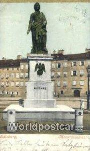 Mozartdenkmal Salzburg Austria 1906