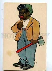 244464 BLACK Americana MAN woodcutter by B Vintage TSN 440-14