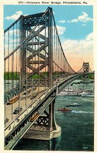 PA - Philadelphia. Delaware River Bridge
