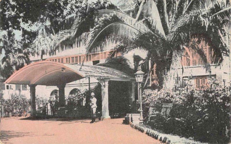 King's House, Home of Governor JAMAICA Kingston c1910s Vintage Postcard
