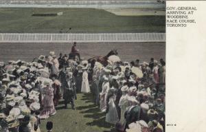TORONTO, Ontario , 1900-10s ; Woodbine Horse Race Track ; Gov. General arrival