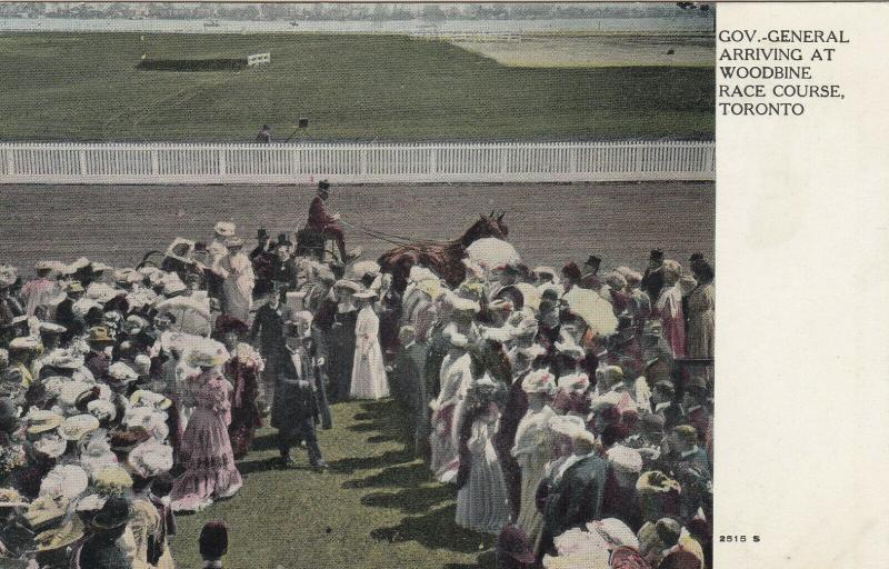 TORONTO, Ontario , 1900-10s ; Woodbine Horse Race Track ; Gov. General arrival