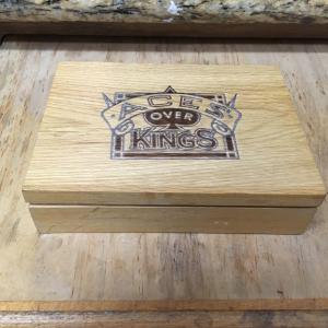 Aces Over Kings World Champ Poker Cards, 2 Decks in Wood Box