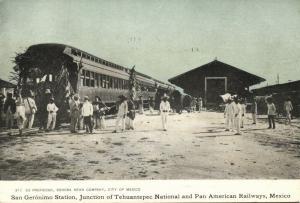 mexico, SAN GERÓNIMO Station, Tehuantepec National and Pan American Railway s