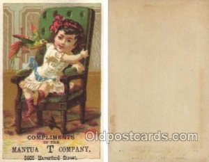Mantua T Comp[any Haverford Steet Trade Card Approx Size Inches = 2.75 x 4.25...