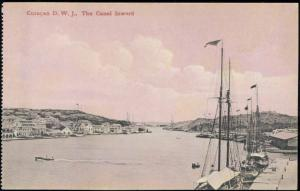 curacao, D.W.I., The Canal Inward, Fishing Ships (1910s)