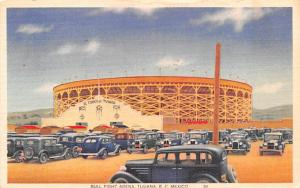 Tijuana, BC Mexico Postcard Tarjeta Postal Bull Fight Arena Tijuana, BC