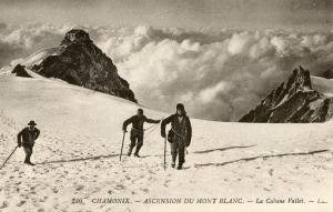 France - Chamonix. In Winter, Acsension of Mont Blanc