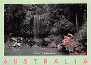 Australia Scenic Reinforests Waterfall