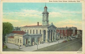 Chillicothe Ohio~Ross County Court House Front & Sides~Posters~1936 Postcard