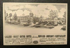Mint Gallery Court Motor Hotel Howard Johnsons Restaurant Illustrated Postcard