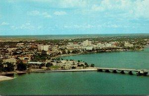 Florida West Palm Beach Skyline Along Lake Worth