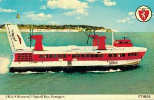 SRN 4 Hovercraft Pegwell Bay Ramsgate Nautica Ship 01.98
