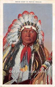 Indian Chief in Festive Regalia 1941