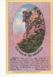 New Hampshire Old Man Of The Mountains Franconia Notch White Mountains Curteich