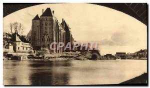 Old Postcard L & # 39Abbaye Solesmes View From Under The Bridge